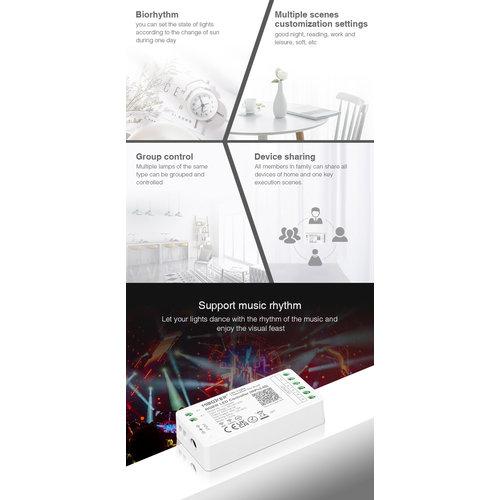 Milight / MiBoxer RGBW LEDStrip Zone Controller WiFi + Bluetooth + 2.4 GHz