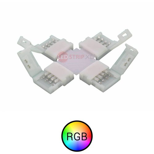 RGB LEDStrip klik koppelstuk kruispunt soldeervrij