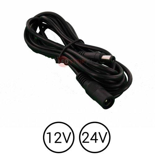LEDStrip Verlengkabel 2,5 meter DC voedings adapter kabel