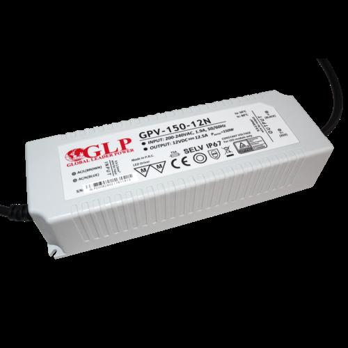 GLP Waterdichte LEDStrip 12 Volt 12,5 Ampère Transformator