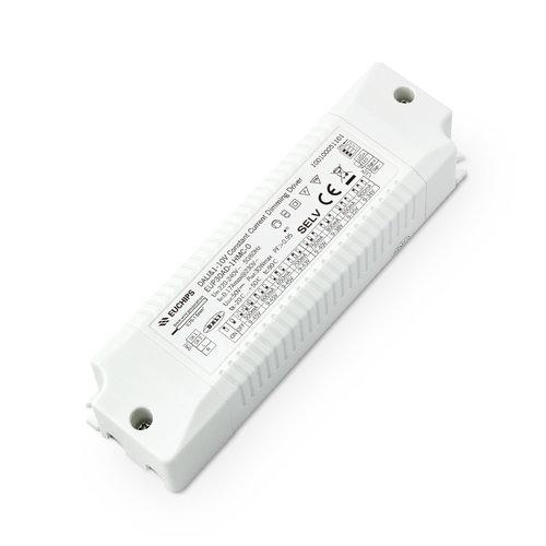 Euchips 30Watt Constant Current Dali en 1-10V Driver 550/600/650/700/750/800/850/900mA
