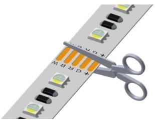 LEDStrip op maat knippen