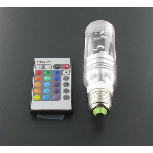 RGB 3 Watt Crystal LED Lamp E27