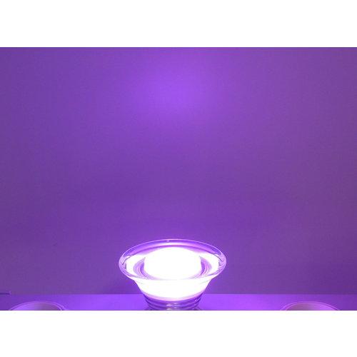 RGB 3 Watt LED 'glas' Spot E27