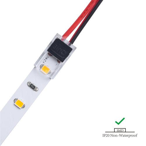 Ledstrip connector strip naar draad voor IP20 strips 8mm