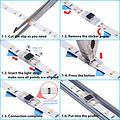 Ledstrip connector strip naar strip voor IP20 strips 8mm