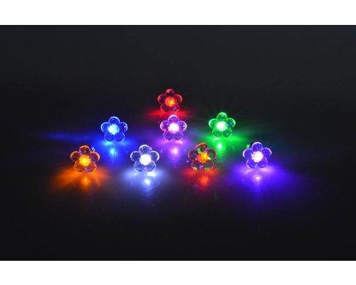 LED Oorbellen met Bloem in diverse kleuren