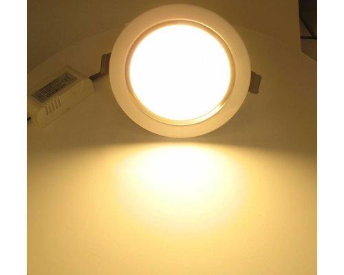 Dolphix LED Downlight - Warm Wit - 9 Watt - incl. driver - wit