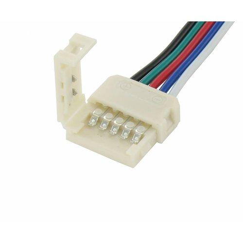 Klik Connector met draad voor RGBW LED strips Verlengen