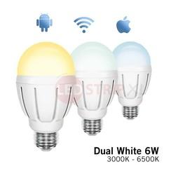 Dual White 6 Watt LED Lamp E27 FUT017