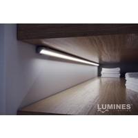 Lumines Aluminium Profiel voor hoeken 1 meter Zilver Geanodiseerd