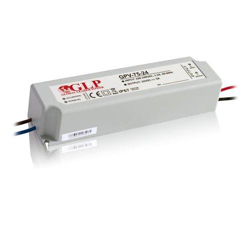 GLP Waterdichte LEDStrip Voedingsadapter 24 Volt 4.2 Ampere Transformator