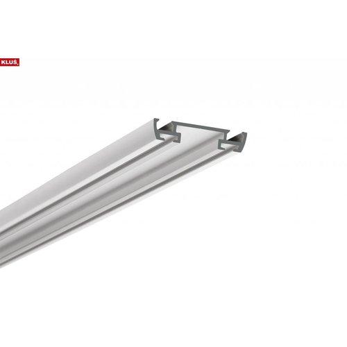 KLUŚ Design Bevestigingsprofiel voor Design opbouw profiel 1 meter 'STOS-ALU'