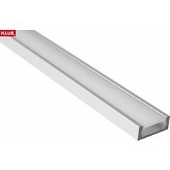 Aluminium opbouw profiel 2 meter slimline 6mm