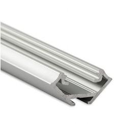 Aluminium Profiel voor hoeken 2 meter Zilver