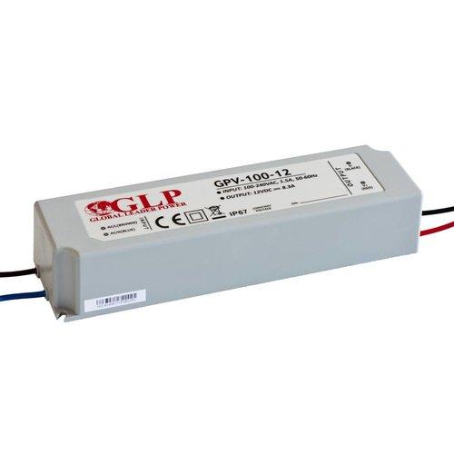 GLP Waterdichte LEDStrip 12 Volt 6 Ampère Transformator