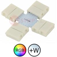 RGBW LEDStrip klik koppelstuk kruispunt soldeervrij