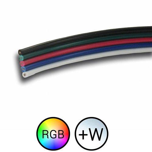 RGBW LEDStrip stroom signaal kabel 5-aderig 1 meter