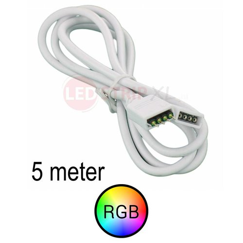Verlengkabel 5 meter voor RGB LED Strips 4-aderig