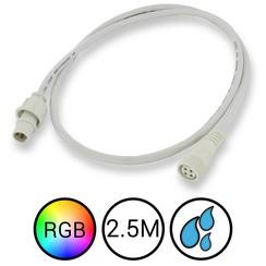 RGB Verlengkabel 250cm voor Aquarium LED Strips