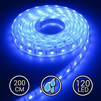 Aquarium LED Strip Extra Bright Blauw 200CM 24V