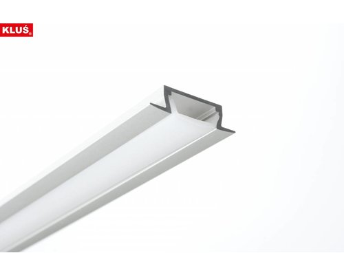 KLUŚ Design Aluminium inbouw profiel 1 meter 6mm hoog