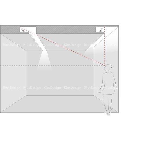 KLUŚ Design Draaibaar Aluminium Profiel 'Poli' 1 meter