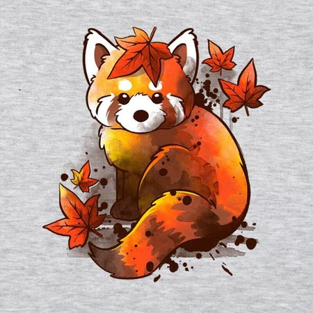 PAMPLING Red Panda Red Leaves by NemiMakeit