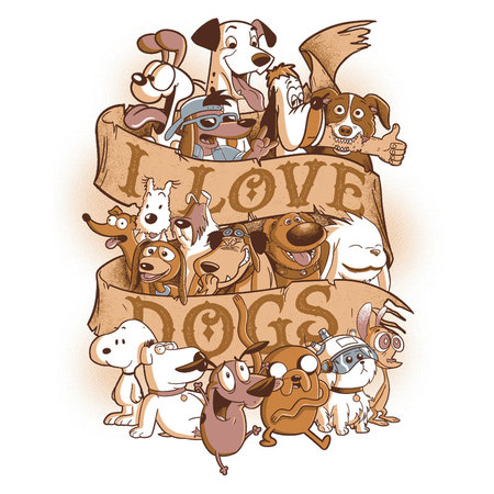 PAMPLING I Love Dogs by Redbug