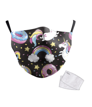 DG Adult unisex  Face Mask -Rainbow Unicorn 2