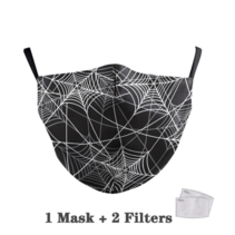 Adult unisex  Face Mask - Spider web