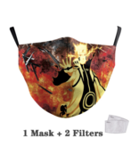 DG Adult unisex  Face Mask - Naruto fire