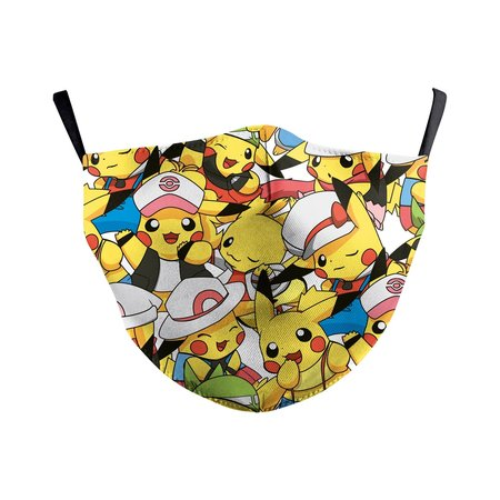 DG Adult unisex  Face Mask - Pikachu