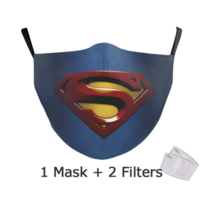 Adult unisex  Face Mask - Superman