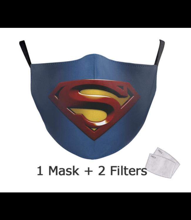 DG Adult unisex  Face Mask - Superman