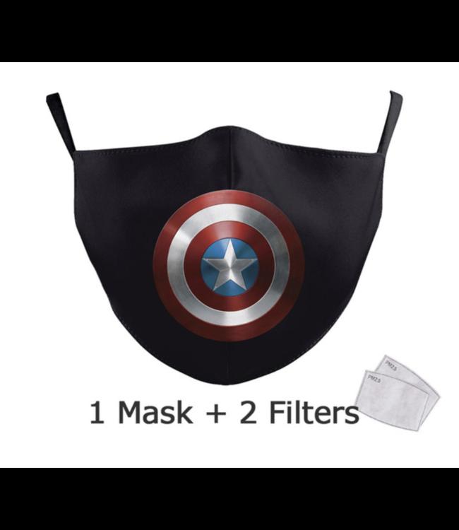 DG Adult unisex  Face Mask - captain america shield