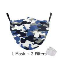 Adult unisex  Face Mask - Camouflage