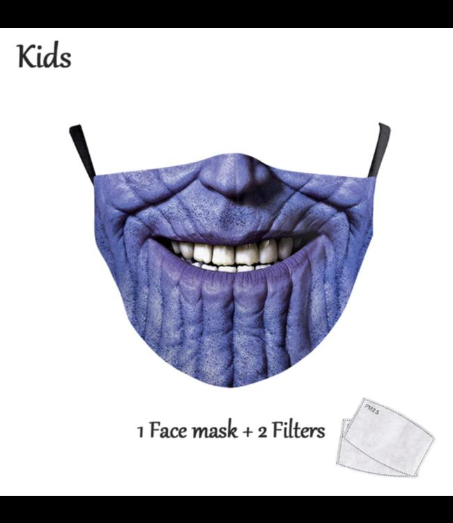 DG Gesichtsmaske für Kinder - Waschbare, wiederverwendbare Maske - Thanos