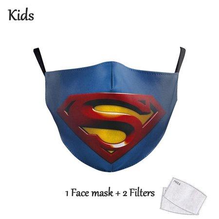 DG Enfants Face Mask - Masque lavable et réutilisable - Superman
