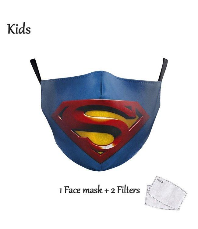 DG Gesichtsmaske für Kinder - Waschbare, wiederverwendbare Maske - Superman
