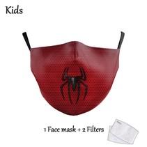Gesichtsmaske für KINDER - Spiderman Captain America