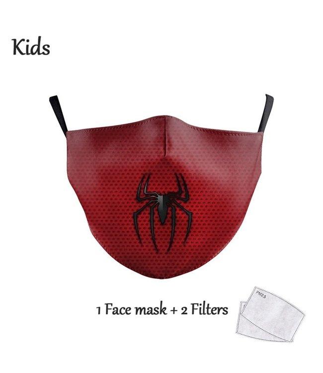 DG Gesichtsmaske für Kinder - Waschbare, wiederverwendbare Maske - Spiderman Captain America