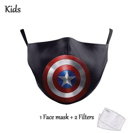 DG Gesichtsmaske für Kinder - Waschbare, wiederverwendbare Maske - Captain America