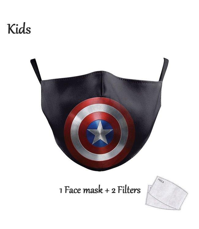 DG Enfants Face Mask - Masque lavable et réutilisable - Captain America