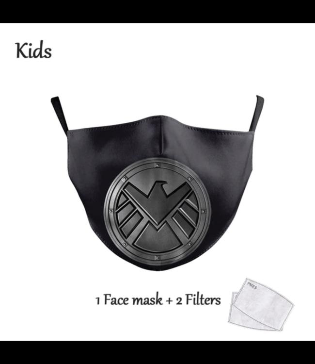 DG Gesichtsmaske für Kinder - Waschbare, wiederverwendbare Maske - Captain America Heroes