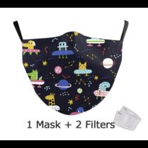 Masque facial adulte unisexe - Masque lavable et réutilisable