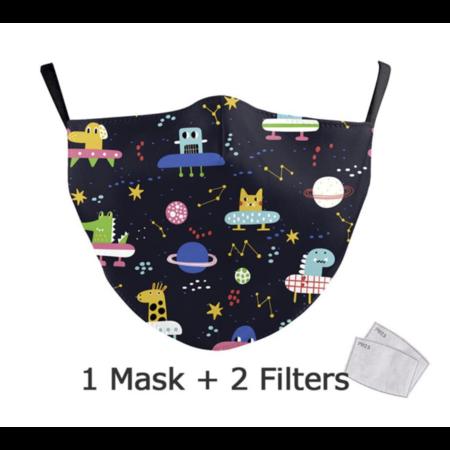 DG Unisex-Gesichtsmaske für Erwachsene - Alien Time