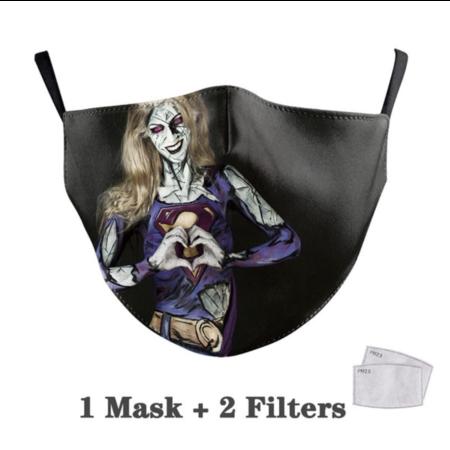 DG Adult unisex  Face Mask - Super Girl