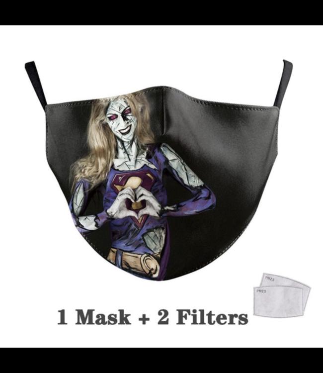 DG Unisex-Gesichtsmaske für Erwachsene - Super Girl