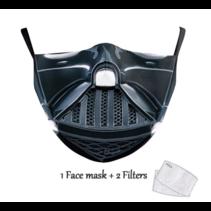 Masque facial adulte unisexe - Masque lavable et réutilisable - Vader